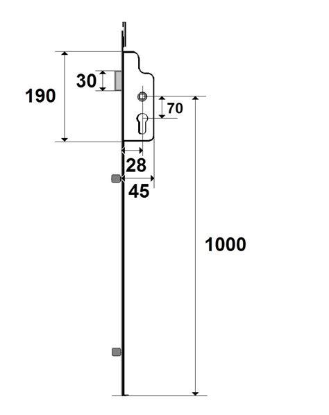 cremone porte d entrée 3 points cr 233 de porte h100