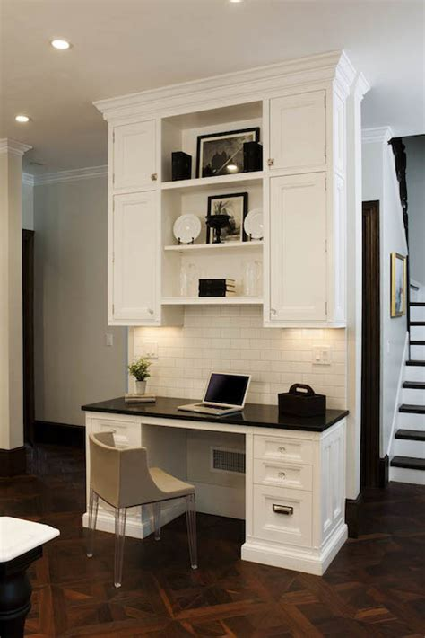 desk with cabinets built in fabulous kitchen with built in desk featuring white