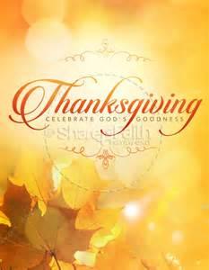 Thanksgiving Church Bulletin Covers