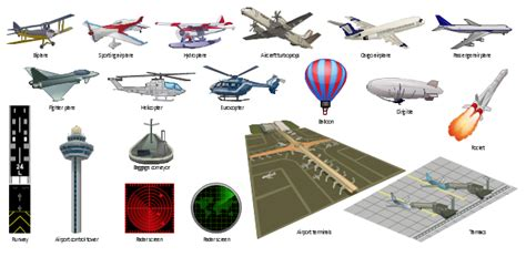 Design Elements  Aircraft  Transport  Template  Design Elements  Pneumatic Pumps And Motors