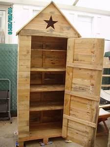 Plan Meuble Palette : armoire de rangement creation palette ~ Dallasstarsshop.com Idées de Décoration