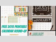 Musings of an Average Mom Free Printable 2015 Calendar