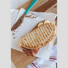 Peanut Butter Nutella And Banana Sandwich