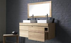 cuisine salle de bain douche meubles de salle de bain With meuble bois suspendu salle de bain