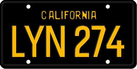 license plate california lyn   mustangfastback  deviantart