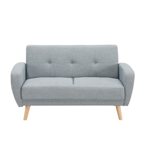 canape 2 places convertible but canap 233 2 places convertible scandinave gris silo achat vente canap 233 sofa divan cdiscount