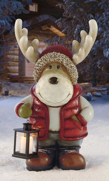 moose  led lantern  designed  bring smiles