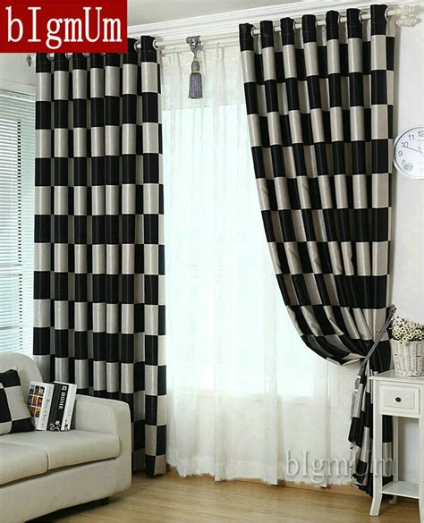 Hotel Drapes For Sale - aliexpress buy european brief pattern plaid blackout