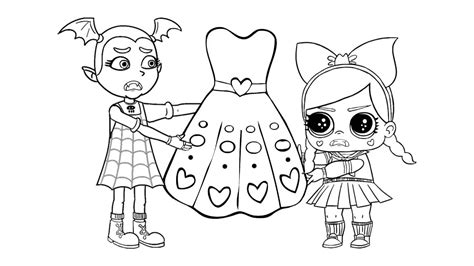 treasure from lol surprise doll coloring pages free sketch