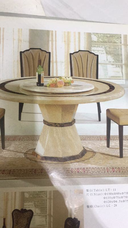 melisa  marble dining table  lazy susan fortune furniture