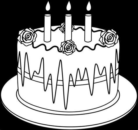 outline  birthday cake  candles desserts