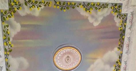 lukisan awan  plafon