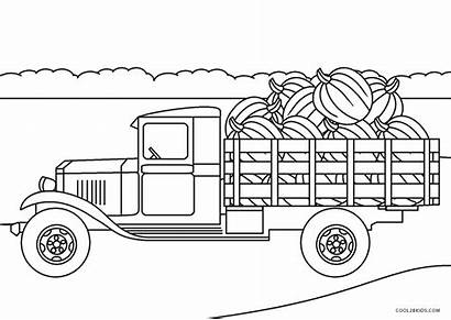 Coloring Truck Trucks Printable Farm Outstanding Toddlers