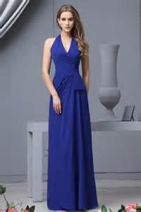 bridesmaid dresses royal blue noblest slim fit royal blue chiffon bridesmaid dress with halter prlog