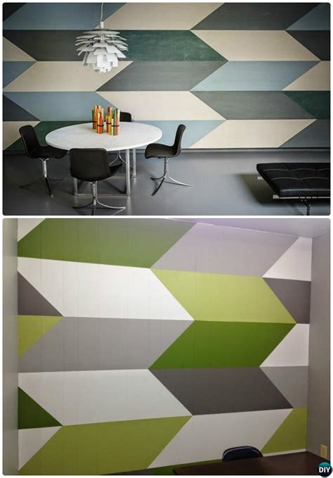 diy patterned wall painting ideas  techniques picture instructions