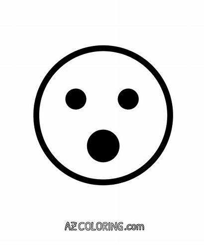 Emoji Coloring Face Surprised Pages Mouth Printable