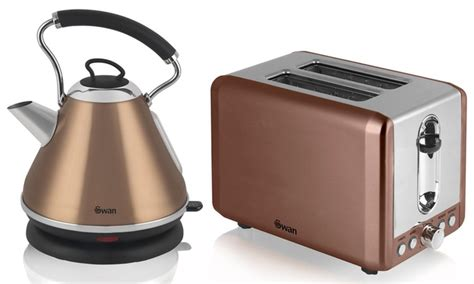 coloured toaster and kettle set swan kettle and 2 slice toaster groupon