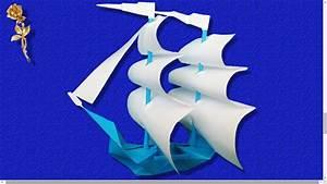 Origami Bateau à Voile : origami voilier 2 m ts youtube ~ Dode.kayakingforconservation.com Idées de Décoration