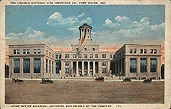 Compare quotes from over 100 top companies. The Lincoln National Life Insurance Co. Fort Wayne, Indiana IN Original Vintage Postcard at ...