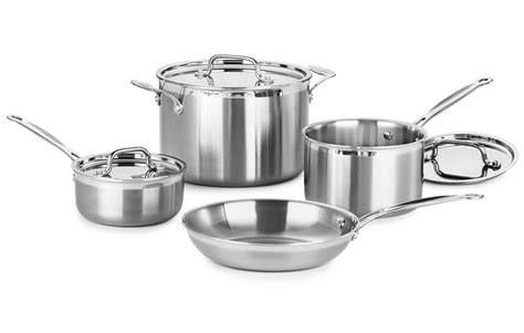 cuisinart multiclad pro stainless steel signature cookware set  piece cutlery