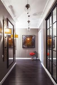 Hallway furniture lights for and dark wood
