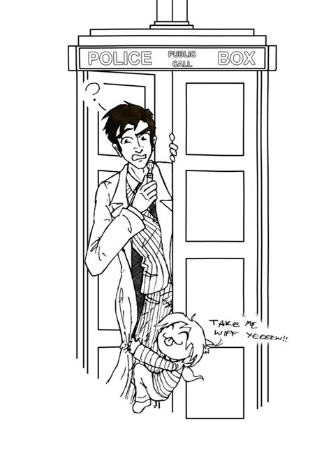 Hums the Doctor Who theme song, before throwing a little