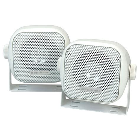Waterproof Boat Speakers by West Marine 3 Quot Mini Waterproof Box Speakers West Marine