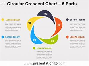 5-parts Circular Crescent Powerpoint Chart