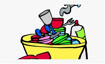 Dishes Sink Dirty Clipart Cliparts Transparent Cartoon