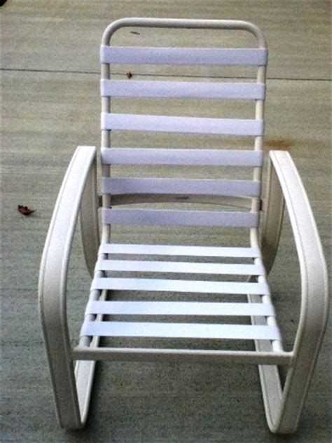 white patio furniture vinyl color