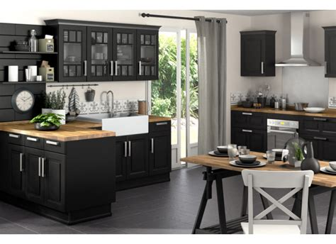cuisine noir cuisine ixina noir et bois wraste com