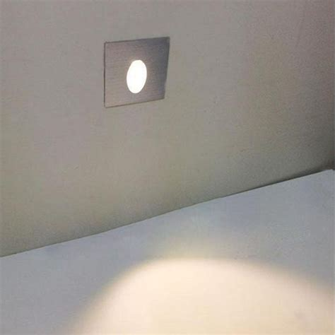1w square aluminum led corner wall light impaction l sale banggood
