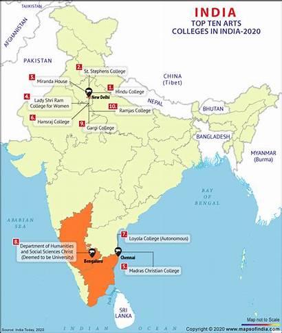 Colleges India Arts Map Ten College Career