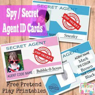 printable licenses  id cards  kids spy kids
