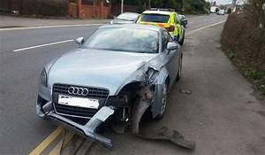 Audi Driver Crashes Into Barrier In Fulwood