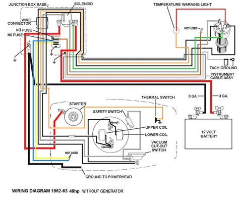 40 Hp Evinrude Wiring Diagram by 62 Evinrude 40hp Lark 4 Wiring Diagram