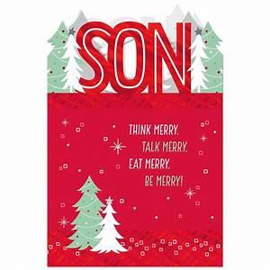 Think Merry Christmas Card For Son Greeting Cards Hallmark