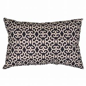 hampton bay black trellis lumbar outdoor throw pillow 7955 With black lumbar throw pillows