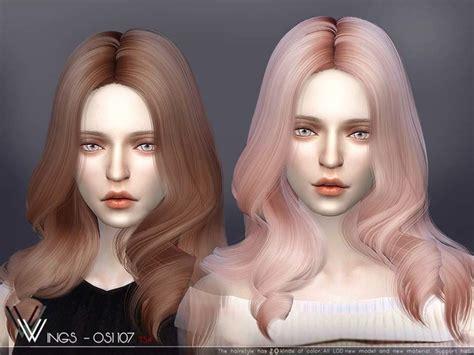 woman hair long hairstyle fashion  sims  p