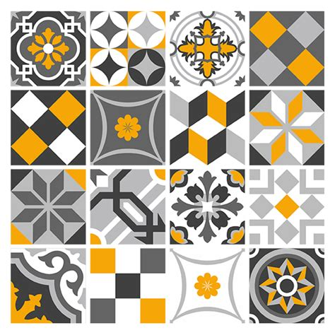 kit 48 stickers pour carrelage mural ornamentales