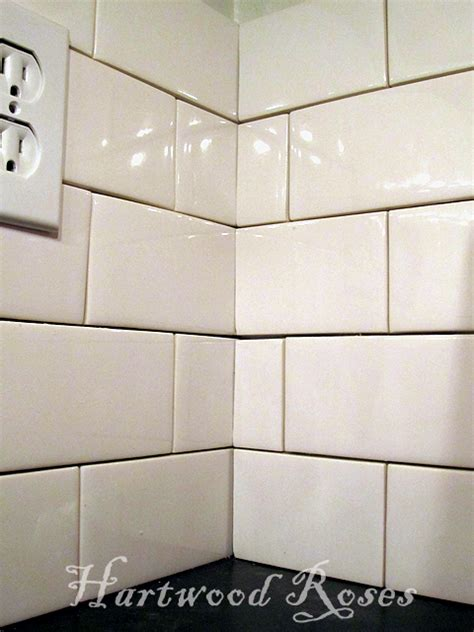 Beveled Tile Inside Corners by Hartwood Roses Workday Weekend Tutorial Tiling The