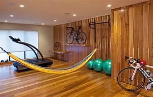 Garage bike storage home gym contemporary with home gym