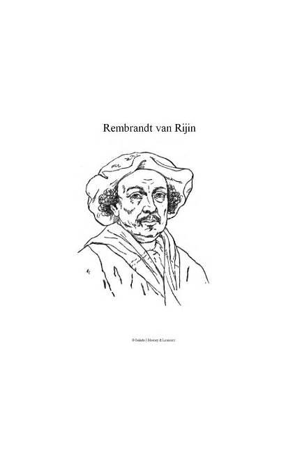 Rembrandt Kleurplaat Coloring Rijn Kleurplaten Fun Kunst