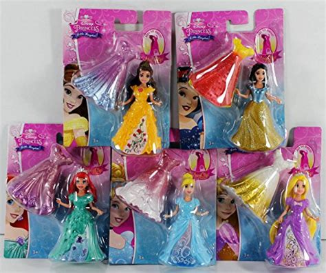 disney princess  kingdom magiclip doll set   snow white ariel belle rapunzel