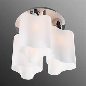 Deckenlampe 3 Flammig : interessante deckenleuchte deckenlampe beleuchtung chrom opalglas 3 flammig wohnlicht ~ Whattoseeinmadrid.com Haus und Dekorationen