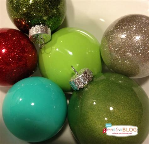 how to make glitter painted glass ornaments today s