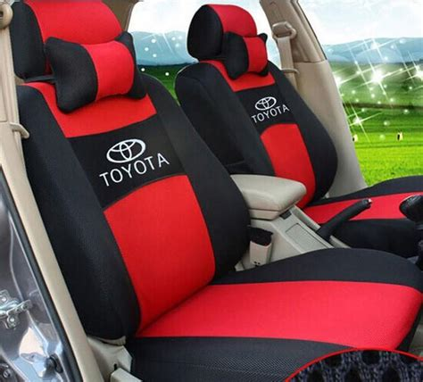 embroidery logo car seat cover front rear 5 seat for toyota land cruiser rav4 highlander prado