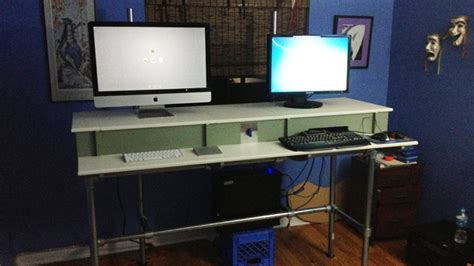 the diy hidden peripherals standing workspace lifehacker uk