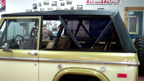 early ford bronco rampage soft top function