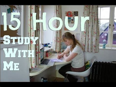 Study With Me  15 Hour Study Day (study Motivation) Youtube
